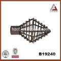 stick curtain/hollow ball shape curtain finials/curtain rod rings 25/28mm