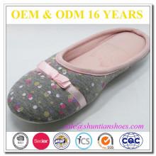 Yangzhou fabricante de sapatos feita online chinelos indoor mulher