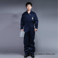 100% Cotton Zip Front Long Sleeve Safety Work Clothes (BLY1003)
