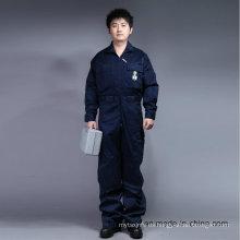 65% poliéster 35% algodón con cremallera frontal de trabajo de trabajo de seguridad (BLY1015)