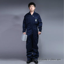 65% Polyester 35%Cotton Zip Front Long Sleeve Safety Coverall Uniform (BLY1015)