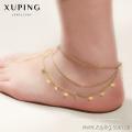Xuping Jewelry diseños de tobilleras de oro, tobilleras para mujeres