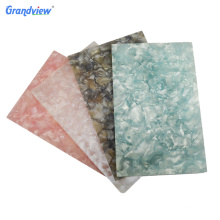 Acrylic material decorative marble finished wall panel