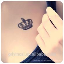 El tatuaje personalizado diseña la etiqueta engomada falsa del tatuaje de la flor del solo color tamaño pequeño para el uso de la vida de cada día