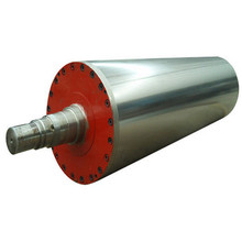 Blind drilled rubber covered Jumbo press roller