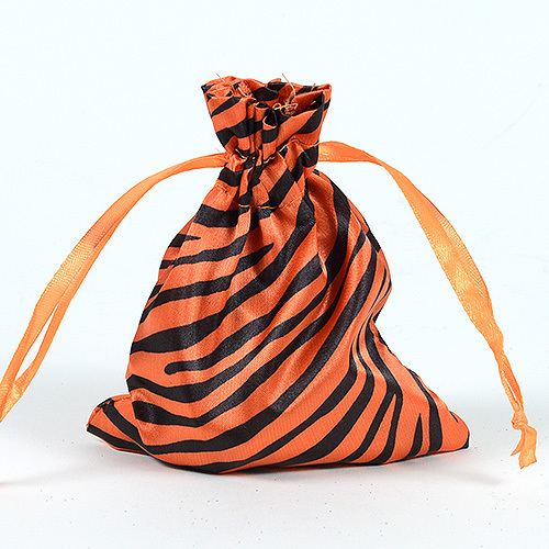 animal print satin bag
