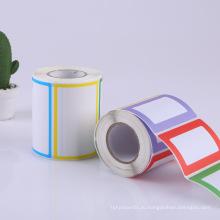 изготовленная на заказ профессиональная печать с покрытием бумажный клей наклейка