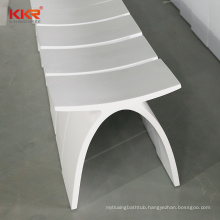 Bathroom Perfect Curved Modelling toilet Seat Bench Solid Surface Resin Sauna shower Stool