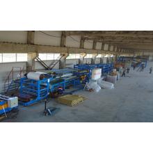 Sistema de controle PLC Linha de produção de painel sanduíche seccional formado de PU