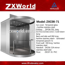 Glass Panoramic Passenger Elevator / lift