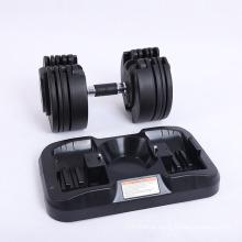 Wholesale Fitness 15kg Barbell Adjustable Rubber Hex Chrome Strength Training Dumbell Sets Wholesale Dumbbell Set