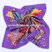 Горячие новые товары для 2014 100% Silk Muslim Square Scarf