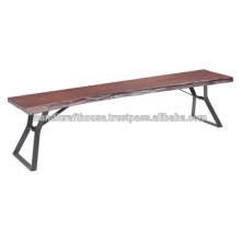 Industrial Live Edge Metal legs Dining Bench