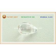 Perla de cristal de forma de gota para colgante