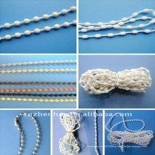 Componentes de cortina de rolo, Acessórios de cortina de cadeia de cortina de plástico para janela, cadeia de talão cego vertical