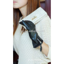 zipper leather gloves for fashion people