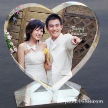 Artisanat en cristal de coeur de High-Crade pour la décoration à la maison
