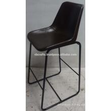 Chaise de bar en cuir urbain industriel Maroon Color Seat