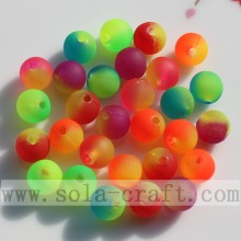 New Double Colored Jelly Rubber Round Beads Wholesale