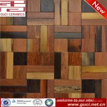 producto de diseño caliente mezclado cuadrado decoración de azulejos de madera sólida