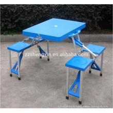 Table et chaises pli en métal en plastique et pliante
