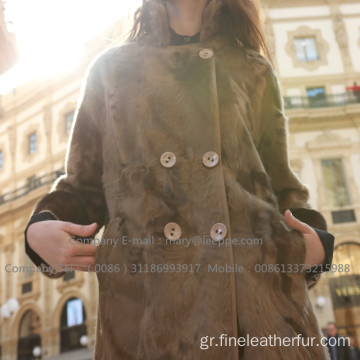 Mink Fur Long Overcoat το χειμώνα