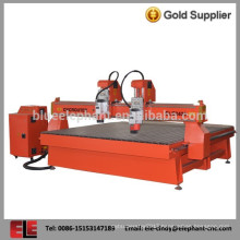 Professional two head wood cnc router for door and desk