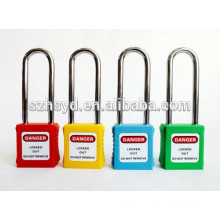 CE certification high security padlock with 304 stainless steel long shackle security padlock
