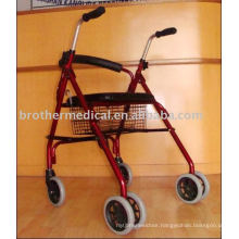 Rollator Walker with PVC Seat and Wheels