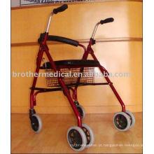 Rollator Walker com assento e rodas de PVC