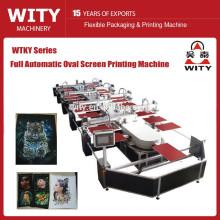 Neueste automatische ovale Textil-Siebdruckmaschine