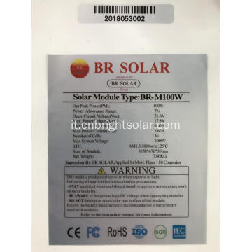 Mono Solar Panel 100wat Low Price