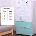 Baby Plastic Drawer Cabinet Armarios de ropa de 5 niveles