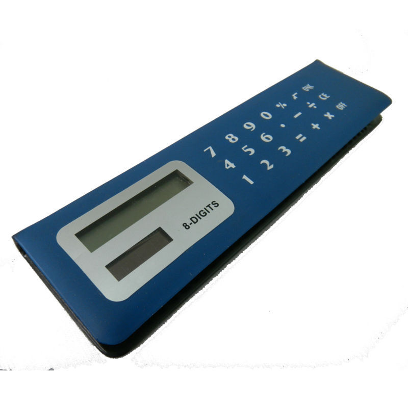 8 Digits PVC Face Memo Flip Over Pencil Case Calculator