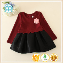 Children winter wool one piece dress