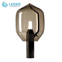 Lampes de chevet LEDER gris clair