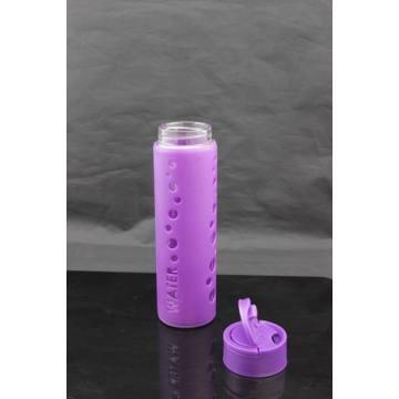 Боросиликатная стеклянная бутылка с силиконовым покрытием