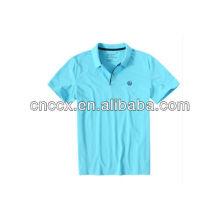13PT1037 100% algodão bordados polo camisas para homens