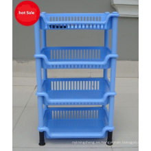 Rack de almacenamiento de cajones de plástico para artículos varios