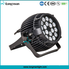 New Design 18PCS 10W RGBW Aluminum Garden Lighting LED Lamp