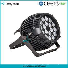 Novo Design 18 PCS 10 W RGBW Jardim De Alumínio Iluminação LED Lâmpada