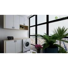 Angepasster Waschmaschinen- und Hängeschrank