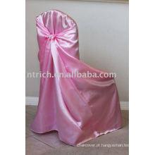 Tampa da cadeira universal cetim, cetim saco/auto-tie tampa, tampa da cadeira do banquete/casamento