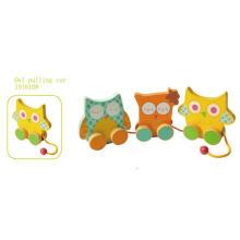 De madera tirar y empujar juguetes de juguete de madera de juguete para los niños