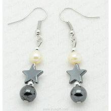 hematite star earring