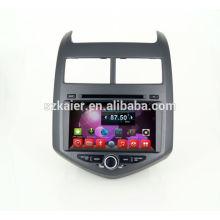 Quad core dvd car audio navigation system,wifi,BT,mirror link,DVR,SWC for Chevrolet Aveo