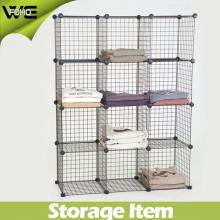 Le Cabinet de boîte de rangement de maille de DIY range le matériel en métal de fil 4mm et 2mm Épaisseur 3 cubes / 4 cubes / 5 cubes / 6cubes / 12cubes