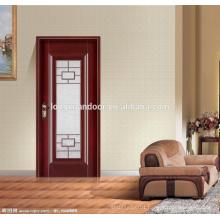 Wood glass door design,wood bedroom door,interior wood door