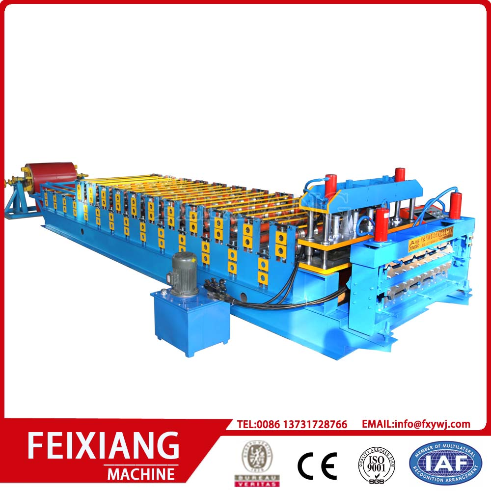Double layer aluminum panel roof forming machine