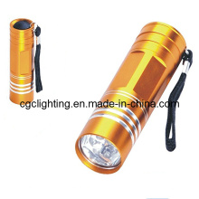 Алюминиевый светодиодный фонарик сухой батареи (CC-022)